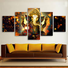compare prices on elephant wall decor online shopping buy low hdartisan canvas painting wall art home decor for living room hd prints 5 pieces elephant god