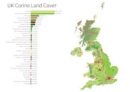 Picture Of Map New Land Cover Atlas Reveals Just Six Per Cent Of Uk Is Built On