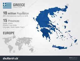 Greek Map Greece World Map Pixel Diamond Texture Stock Vector 207401116