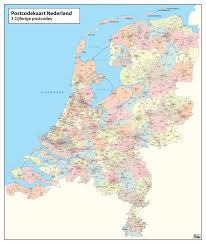 digital 3 digit postcode map of the netherlands 273 the world of
