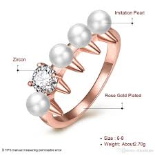 best pearl rings images 2018 fashion pearl rings for women girl wedding engagement party jpg