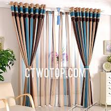 Blue And Brown Curtains Blue And Brown Modern Primitive Contemporary Best Striped Curtains