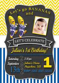 baby mickey invitations chalkboard bananas in pyjamas birthday invitation pyjamas