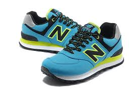 Comfortable New Balance Shoes Comfortable New Balance 574 Women Blue Black Yellow Running Shoes