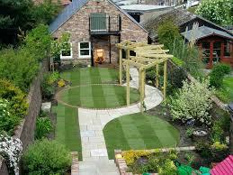 Outdoor Landscaping Ideas Backyard by Rectangular Garden Designs Rectangle Design Plans Small