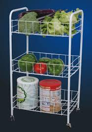 3 tier vegetable rack kitchen storage 12 mm 3 tier wire kitchen