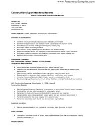 construction superintendent resume resume templates