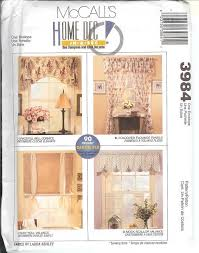 Curtain Patterns To Sew Oop Mccalls Sewing Pattern Window Treatment Curtains Toppers