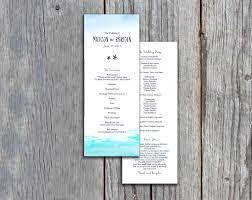 flat wedding programs nautical sea design flat wedding program programs tea length