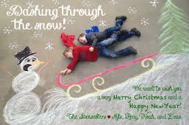 the benscoter u0027s christmas card chalk art drawn on our driveway