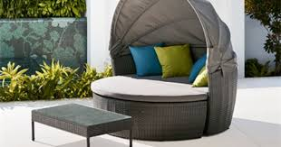 mimosa 3 piece silverleaves aluminium and resin wicker daybed