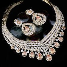 diamond necklace sets images Vivah creation champagne american diamond necklace set size jpg