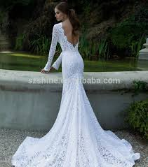 fishtail wedding dresses sleeve sheer wedding gowns sheer lace crew