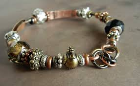 bangle bracelet beads images How to make copper bangle bracelets with large hole beads rings jpg