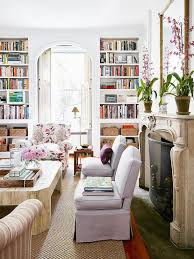 built in bookcases flanking arched doorway transitional living