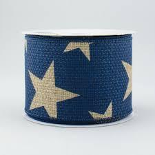 navy blue wired ribbon 2 5 print ribbon blue 10 yards rg01269k6
