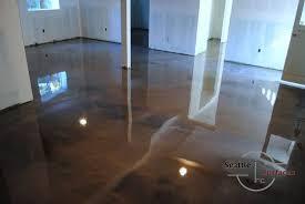 designer metallic epoxy basement floor hometalk