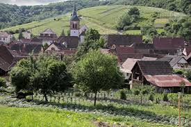 small rural village in alsace france stock photo picture and