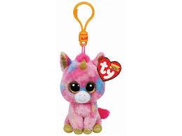 ty fantasia unicorn ty beanie boo keychain temporary