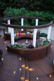 Garden Decking Ideas Uk 117 Best Built In Deck Seating Benches Planters Images On