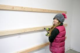 Wood Shelf Plans For A Wall by Ana White Easy And Fast Diy Garage Or Basement Shelving For Tote