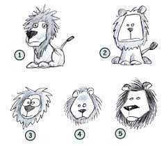 drawing cartoon lion