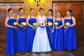 royal blue and silver wedding tbdress and classical royal blue wedding theme