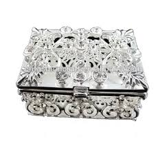 jewelry box favors wedding favors guest gift white metal rhinestone jewelry