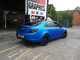 chrome wrapped cars arlon blue aluminium wrap on vauxhall insignia wrapvehicles co