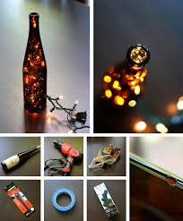 wine bottle light in crafts for decorating and home decor parties