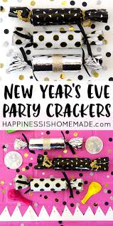 nye noisemakers diy new year s party crackers happiness is