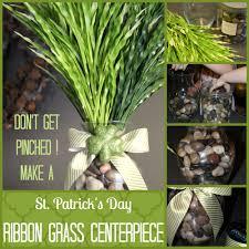 st patrick u0027s day ribbon grass centerpiece idea