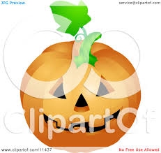 clipart of a black and white halloween woodcut jackolantern