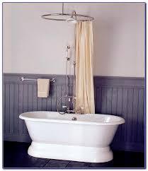 Design Clawfoot Tub Shower Curtain Rod Ideas Minimalist Curved Shower Curtain Rod For Clawfoot Tub Gopelling