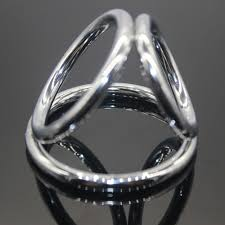 metal ball rings images Mens triple penis cock ring stainless steel cock ball stretcher jpg