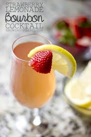 bourbon thanksgiving cocktail strawberry lemonade bourbon cocktail recipe
