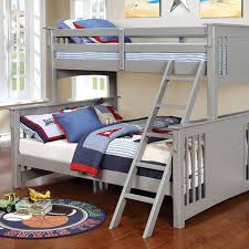 furniture of america twin xl queen bunk bed gray spring creek