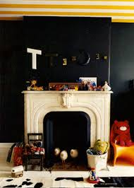 Black Paint For Fireplace Interior Modern Interior Decorating Black Plus Another Color Combination