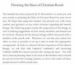 funeral planning guide st bernadette parish funeral planning guide
