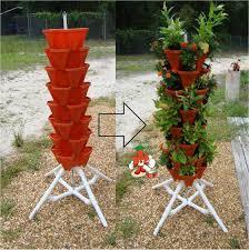 amazon com vertical gardening tiered tower indoor outdoor