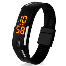 bracelet digital watches images Skmei 1099 led digital sport wrist watch for lovers black free jpg