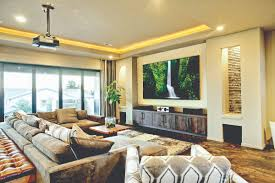 Glamorous  Home Theater Design Houston Decorating Design Of - Living room with home theater design