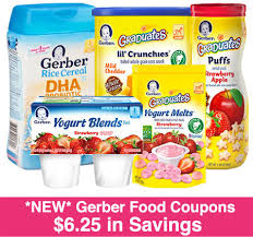 food coupons new 6 25 in gerber baby food coupons print now