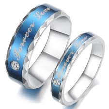 promise ring sets titanium stainless steel mens promise ring wedding