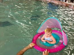 Swimways Baby Spring Float Sun Canopy Blue by Summer With Swimways Baby Spring Float The Neighborhood Moms