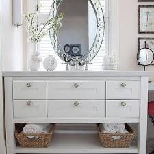 Vanity Mirror Dresser Cole And Son Fontainebleau Wallpaper Transitional Bathroom