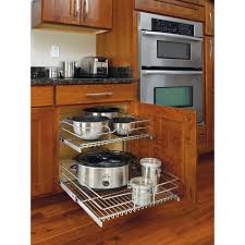 Kitchen Cabinets Slide Out Shelves Rev A Shelf 19 In H X 14 75 In W X 22 In D Base Cabinet Pull
