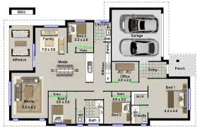 house plan no 220 modern 4 bedroom house plan 4 bed modern style