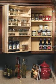 Kitchen Cabinet Spice Organizers Wall Swing Out Spice Rack Decora Cabinetry