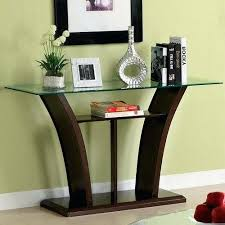 Glass Sofa Table Modern Modern Sofa Table Furniture Of Cherry Beveled Glass Sofa